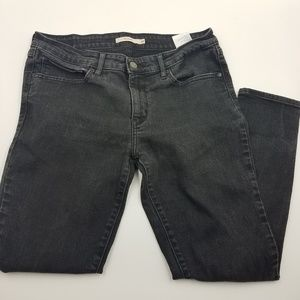 Levi's Washed Black 711 Skinny Jeans